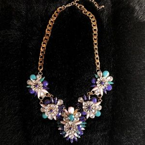 J Crew Flower Cluster Statement Necklace
